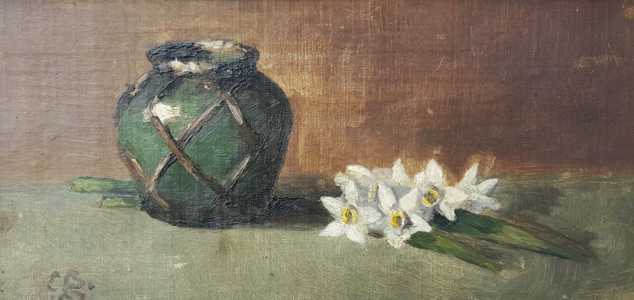 Vase with Daffodils by E. B.